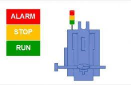 Hệ thông giám sát vận hành máy thông qua đèn tín hiệu